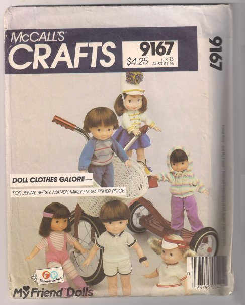 6ed55fb8ae8c5a EXC- McCall s Pattern 9167 made for the my friend dolls- doll clothes  galore